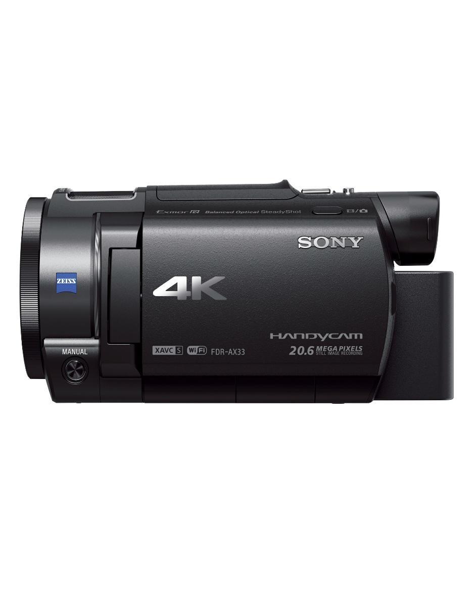 43330d183b57 Videocámara Sony FDR-AX33 Handycam 4K 20.6 Megapíxeles