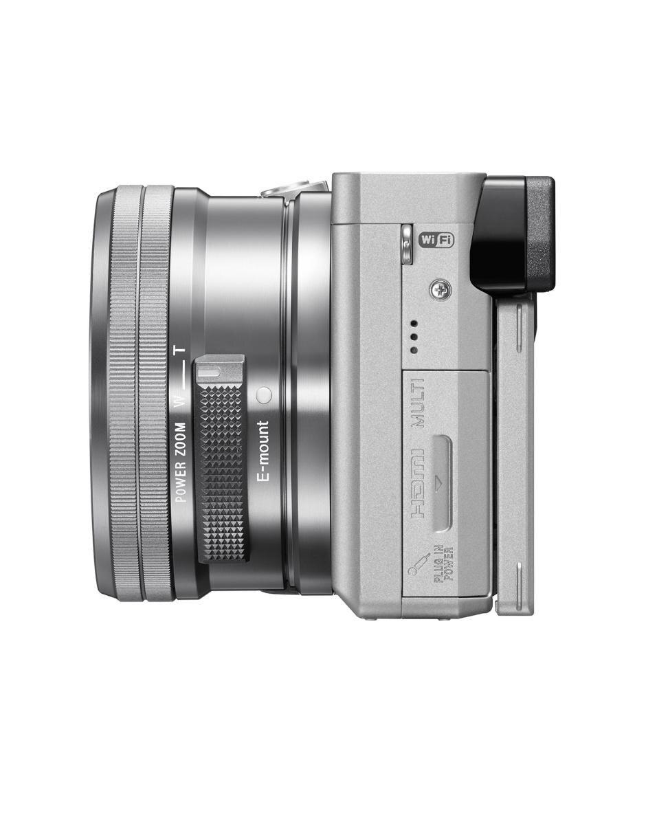 Cámara Sony ILCE- 6300 silver con montura E y sensor APS-C